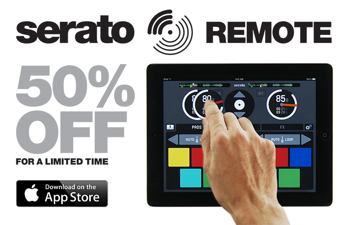 serato remote is on sale for 50% off